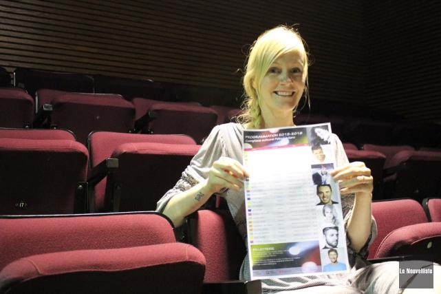 La directrice générale du Complexe culturel Félix-Leclerc, Sandie... (Photo: Audrey Tremblay, Le Nouvelliste)