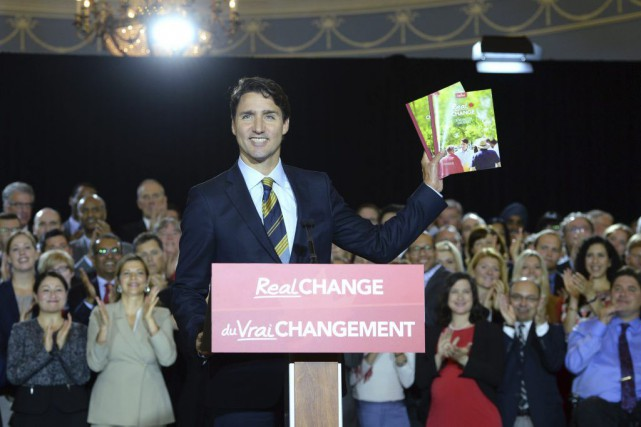 Justin Trudeau... (PHOTO SEAN KILPATRICK, LA PRESSE CANADIENNE)