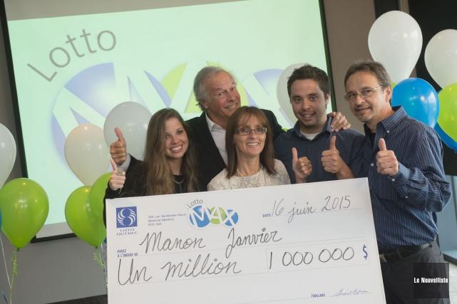 Gagnante d'un million $ au Lotto Max, Manon... (Photo: Stéphane Lessard, Le Nouvelliste)