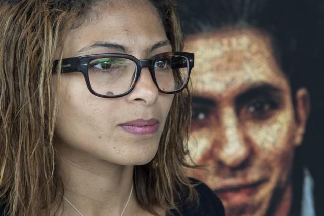 La conjointe de Raif Badawi, Ensaf Badawi.... (Photo PC)