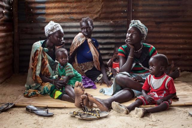 Quelque 250 000 enfants «risquent de mourir de faim» au Soudan du Sud, pays... (PHOTO AFP)