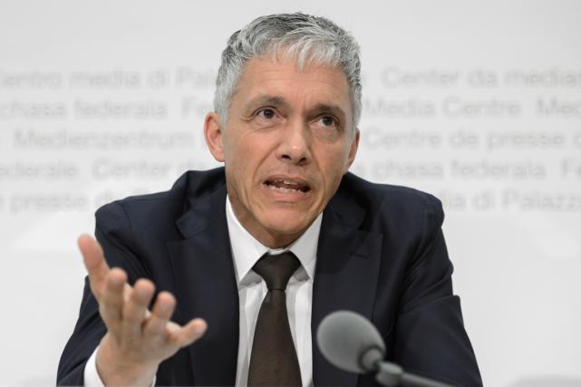 Le procureur général de la Confédération helvétique, Michael... (Photo Fabrice Coffrini, AFP)
