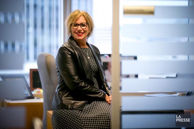 Francine Tremblay,vice-présidente, rendement, rémunération et talent chez Aon... (PHOTO FRANÇOIS ROY, LA PRESSE)