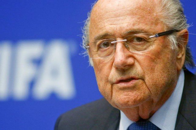 Sepp Blatter.... (PHOTO ARND WIEGMANN, REUTERS)