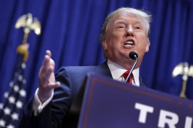 Donald Trump s'est lancé mardi dans une tirade... (PHOTO AP)