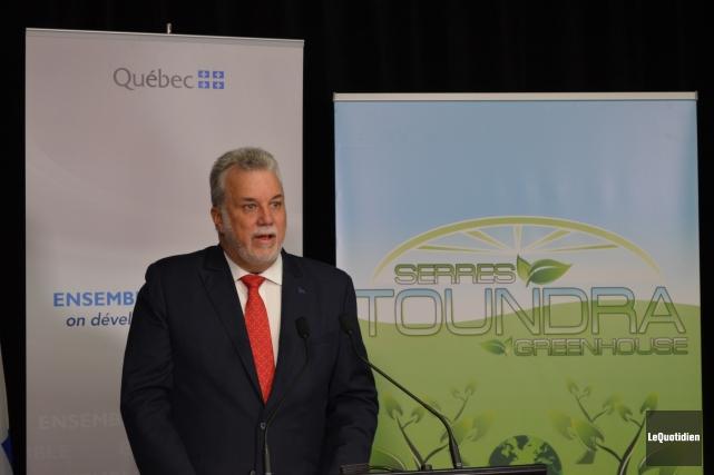 Le premier ministre, Philippe Couillard, aussi député de... ((Photo Le Quotidien Louis Potvin))