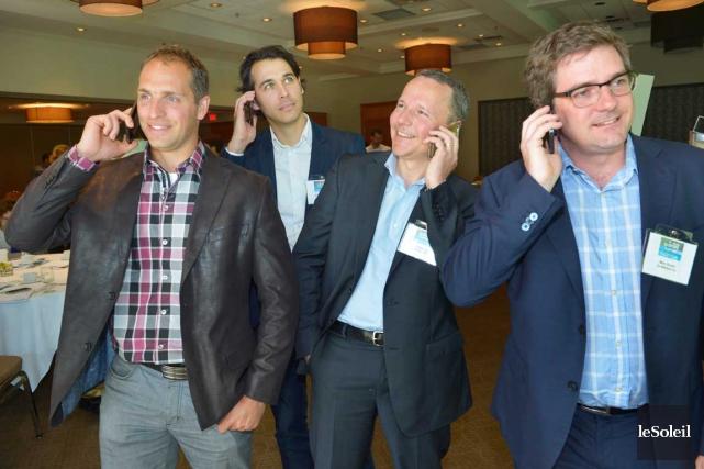 Quatre dirigeants de PME exportatrices de la région... (Le Soleil, Jean-Marie Villeneuve)