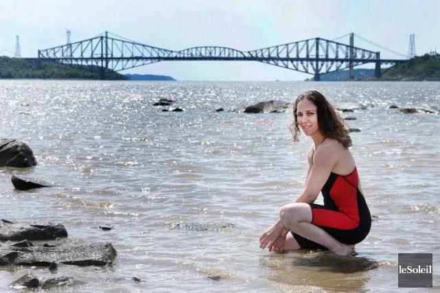 La nageuse en eau libre Heidi Levasseur a... (Le Soleil, Jean-Marie Villeneuve)