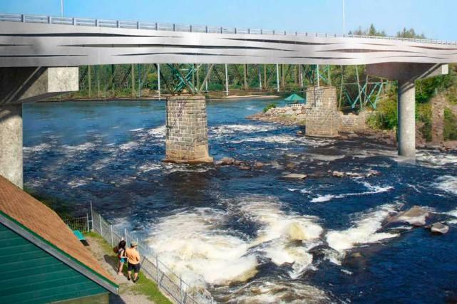 Malgré la construction du nouveau pont à Shannon,... (Image fournie par le ministère des Transports du Québec)