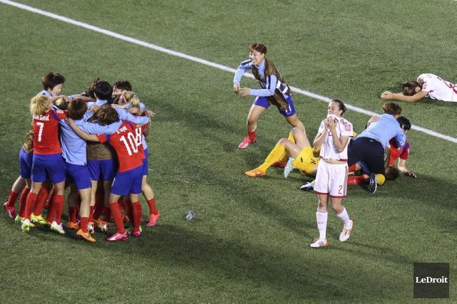 La Corée a remporté le match 2-1.... (Patrick Woodbury, LeDroit)