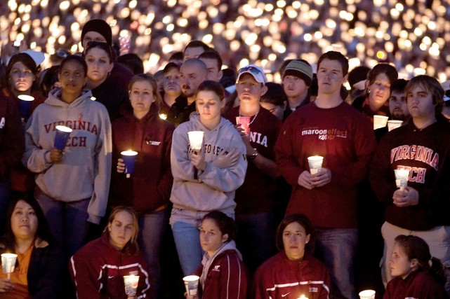 La tuerie de Virginia Tech, dans laquelle 32... (PHOTO CHRIS KEANE, ARCHIVES REUTERS)