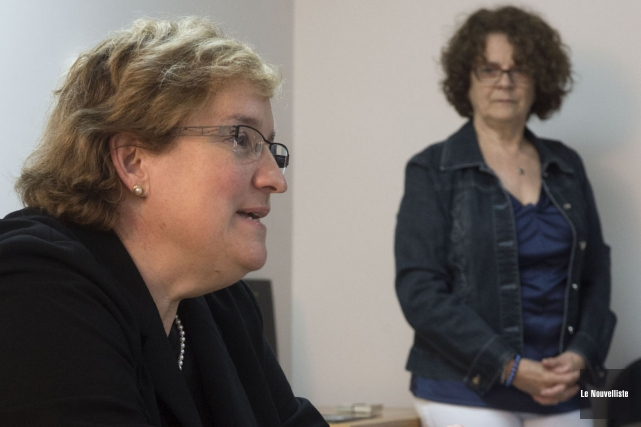 La docteure Linda Vincent, radio-oncologue, a agi comme... (Photo: Stéphane Lessard, Le Nouvelliste)