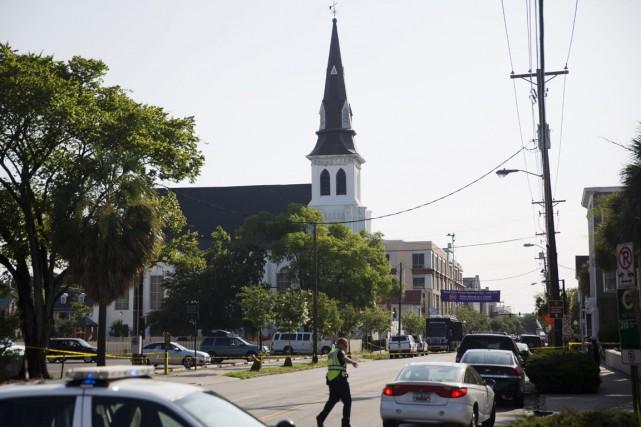 L'église Emanuel de Charleston a été le théâtre... (Archives AP)