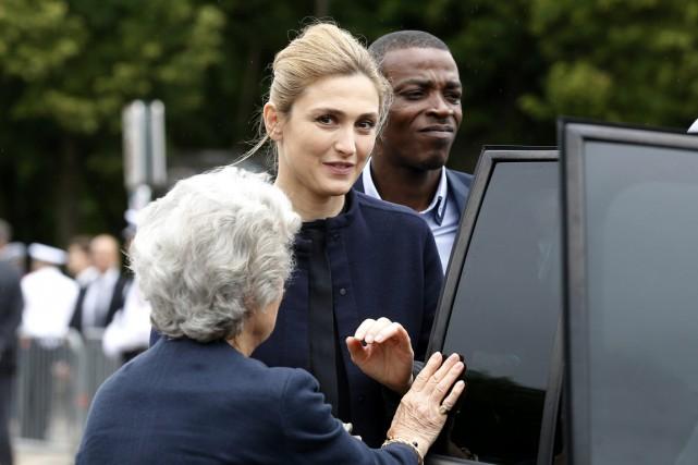 Toute de noir vêtue, l'actrice a participé à... (PHOTO THOMAS SAMSON, AFP)