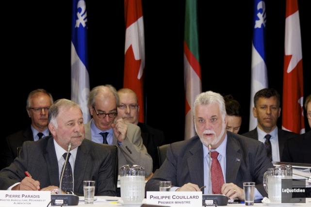 Le premier ministre Philippe Couillard affirme que le... ((Photo Le Quotidien, René Bouchard))