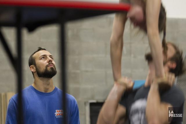 :Pour le coach, concepteur et acrobate Jonathan Brochu,... (Photo: La Presse)