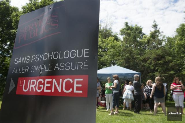 Les psychologues du réseau public de la santé... (Photo: Stéphane Lessard, Le Nouvelliste)