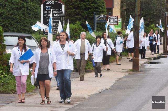 Les manifestations se multiplient dans la région.... (Photo: François Gervais, Le Nouvelliste)