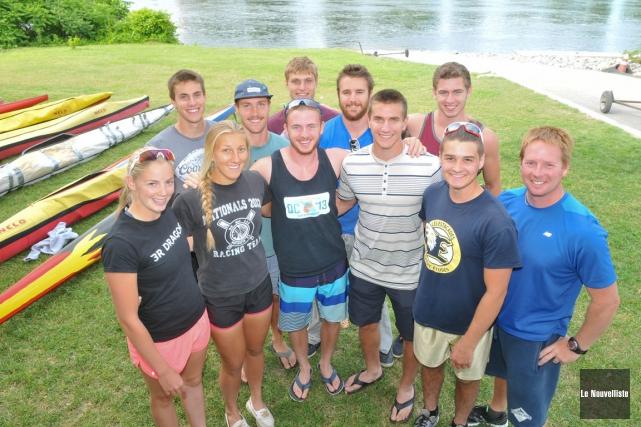 Un important contingent du Club de canoë-kayak de... (Photo: Émilie O'Connor, Le Nouvelliste)