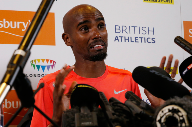 Le double champion olympique Mo Farah a raté... (Photo Andrew Boyers, Reuters)