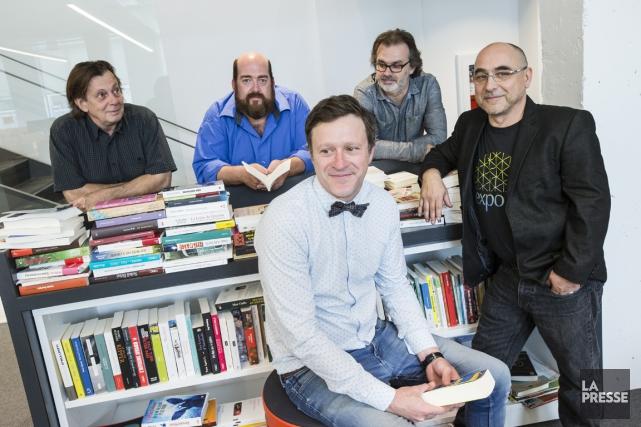 De gauche à droite, Daniel Lemire, Martin Larocque,... (PHOTO ÉDOUARD PLANTE-FRÉCHETTE, LA PRESSE)