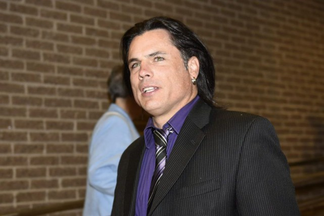 Patrick Brazeau à son arrivée à la cour.... (PHOTO JUSTIN TANG, PC)