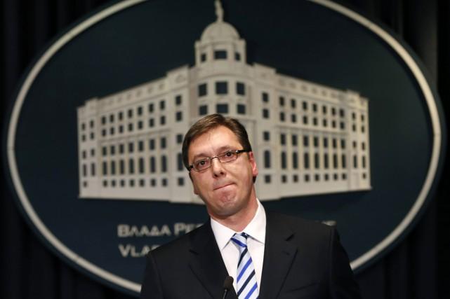 Le premier ministre serbe Aleksandar Vucic.... (PHOTO DARKO VOJINOVIC, AP)