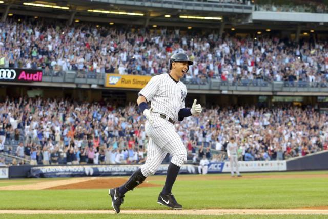 Rodriguez est devenu le 29ejoueur dans l'histoire du... (PHOTO BRAD PENNER, USA TODAY)