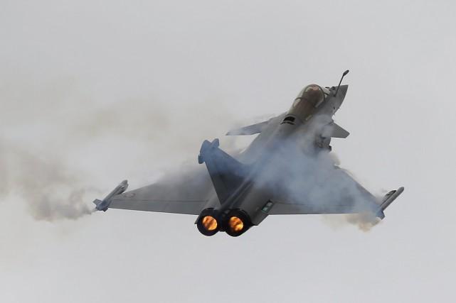 Dassault a mis l'accent sur le Rafale pendant... (Photo François Mori, AP)