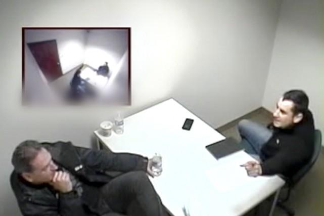 Lors de son interrogatoire,André Thibodeau passe à l'attaque... (Photo tirée d'une vidéo)