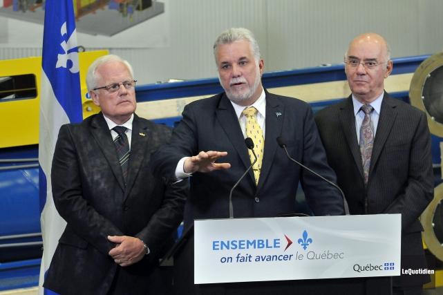 Le premier ministre Philippe Couillard a annoncé, hier,... (- photo le quotidien, rocket lavoie)
