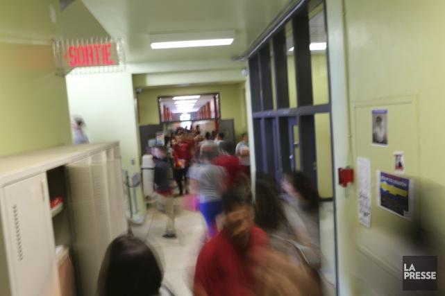 Le saut entre l'école primaire et la grosse... (Archives La Presse)