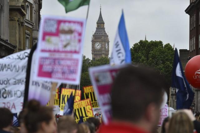 Parti de la Banque d'Angleterre, au coeur du... (PHOTO BEN STANSALL, AFP)