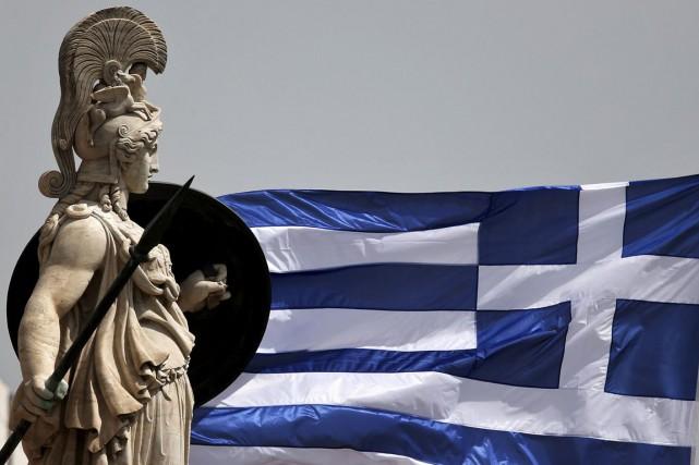 La Grèce, menacée d'un défaut de paiement et dont l'avenir est au menu d'un... (PHOTO ARCHIVES REUTERS)