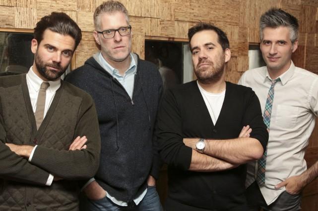 Jean-Philippe Wauthier, Fred Savard, Jean-Sébastien Girard et Olivier... (Photo fournie par Radio-Canada)