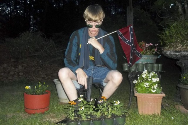 Dylann Roof... (PHOTO AFP/LASTRHODESIAN.COM)