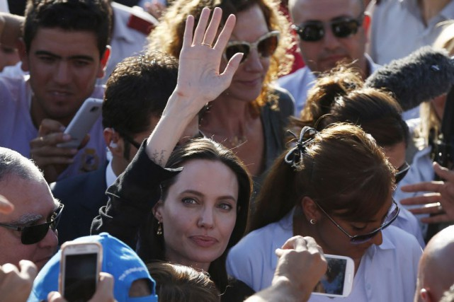 L'actrice Angelina Jolie a appelé la communauté internationale... (Photo Emrah Gurel, AP)