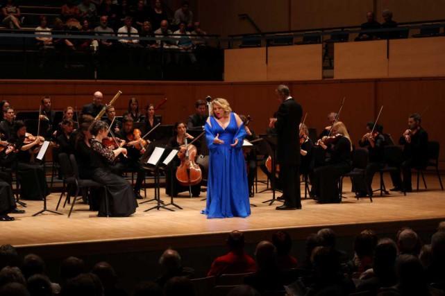 Karina Gauvin est entrée en scène en début... (Photo Élise Tremblay)