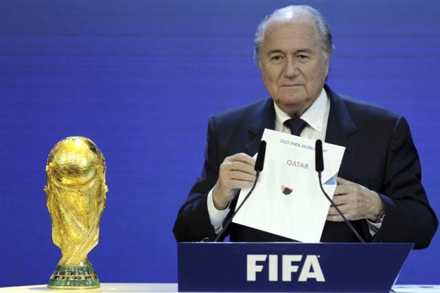 Le président de la FIFA Sepp Blatter a... (PHOTO PHILIPPE DESMAZES, ARCHIVES AFP)