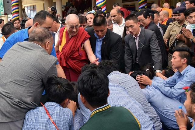 Le dalaï-lama est né un 6 juillet, mais... (PHOTO NARINDER NANU, AFP)