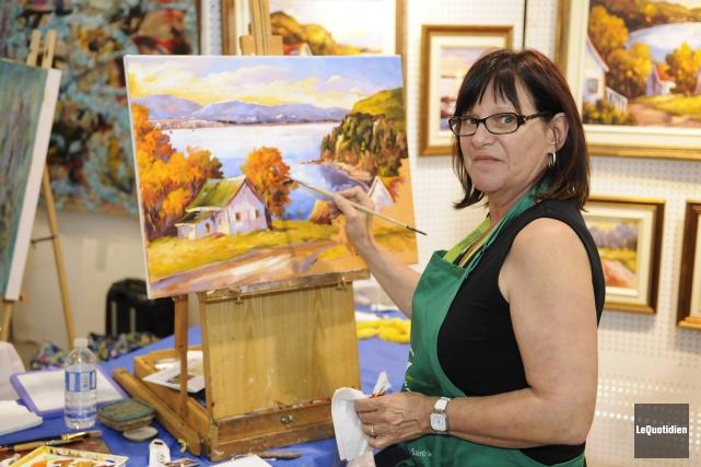 France Beaudry, peintre... ((Photo Le Quotidien, Marianne L. St-Gelais))