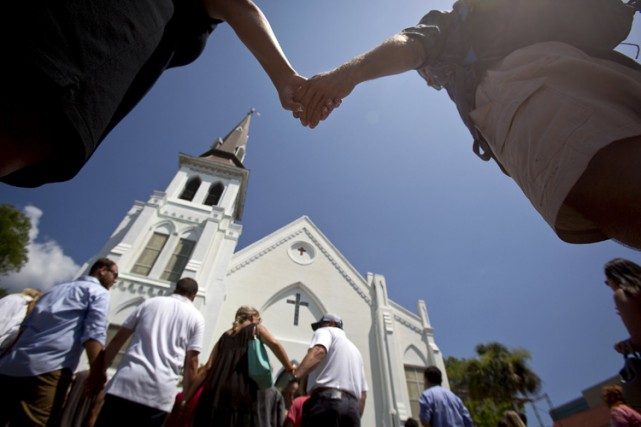 L'église Emanuel African Methodist Episcopal se dresse dans... (PHOTO REUTERS)