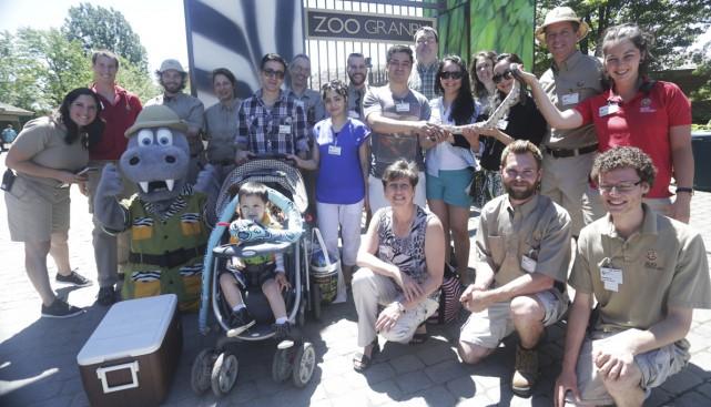 L'équipe du Zoo a accueilli son 25 millionième... (photo Catherine Trudeau)