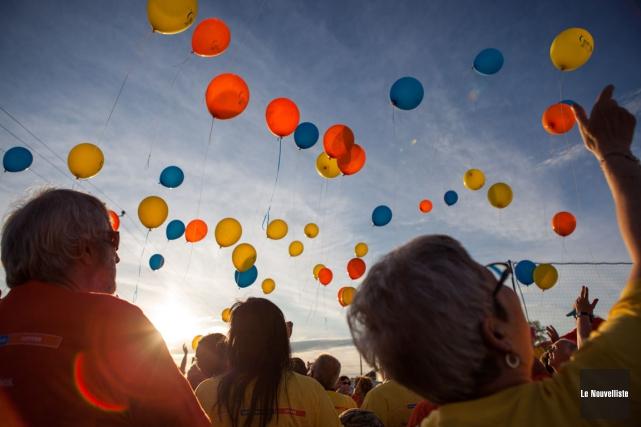 Plus de 350 personnes ont participé à la... (Photo: Olivier Croteau, Le Nouvelliste)