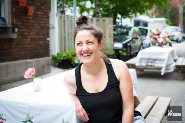 Stéphanie Labelle a ouvert la pâtisserie Rhubarbe en... (PHOTO OLIVIER PONTBRIAND, LA PRESSE)