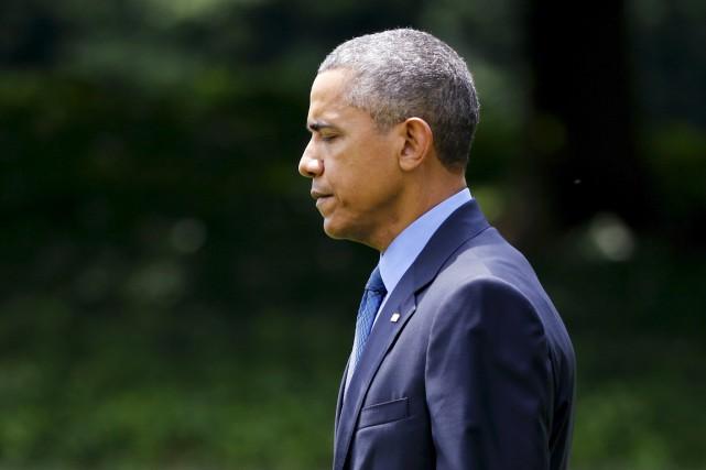 Le président américain a cependant insisté sur les... (PHOTO JONATHAN ERNST, REUTERS)