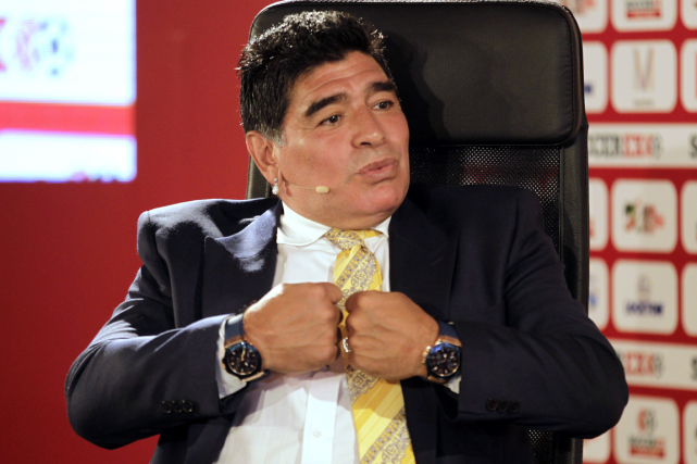Diego Maradona... (Photo Khalil Mazraawi, archives AFP)