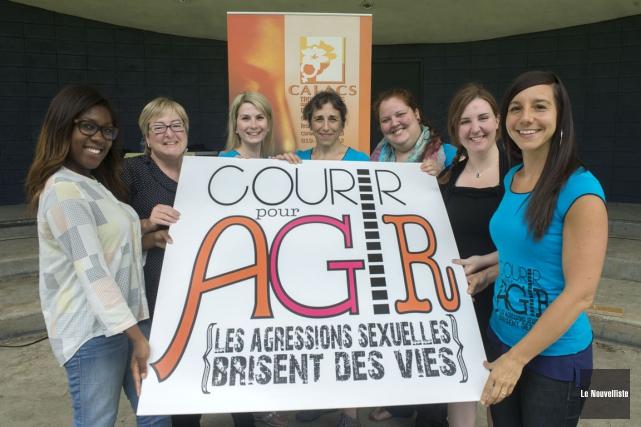 La deuxième édition de l'activité Courir pour agir... (Photo: Stéphane Lessard, Le Nouvelliste)