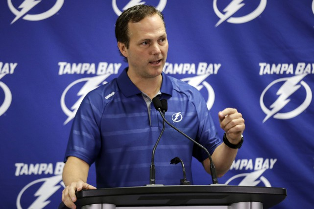 L'entraîneur du Lightning de Tampa Bay, Jon Cooper.... (PHOTO ARCHIVES AP)