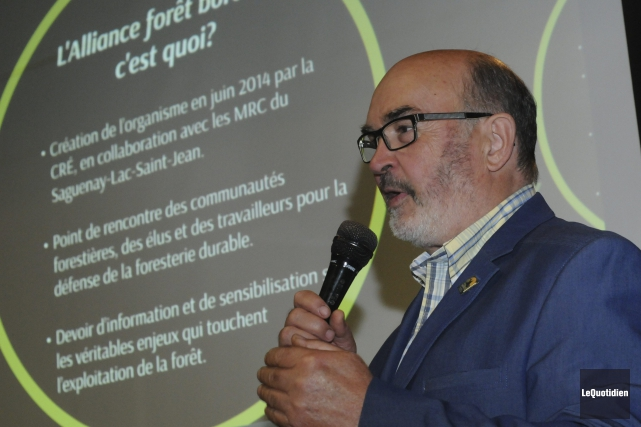 Le président de l'Alliance forêt boréale, Jean-Pierre Boivin,... ((Photo Le Quotidien, Michel Tremblay))